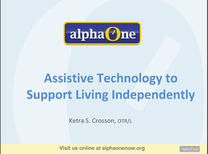 Support Living Independently webinar screenshot