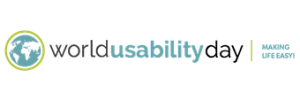 World Usability Day logo: Making life easier